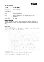 JOB DESCRIPTION JOB DESCRIPTION Job Title Job Title ...