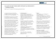 Vilkår og betingelser for betalingskonti - Danske Bank