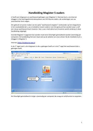 Handleiding Magister voor ouders - IVO Deurne