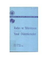 Radyo ve Televizyon Yasal Düzenlemeler