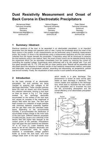 Back Corona in Electrostatic Precipitators: New Findings - isesp