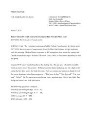 PRESS RELEASE FOR IMMEDIATE RELEASE CONTACT ... - USSA