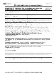 TRI 2003:022 Regeländringsspecifikation - Banportalen