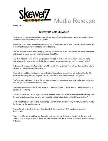 Townsville Gets Skewered - Skewerz Kebabz