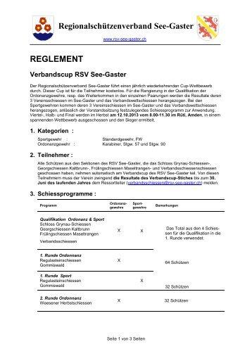 Regionalschützenverband See-Gaster ... - RSV See-Gaster