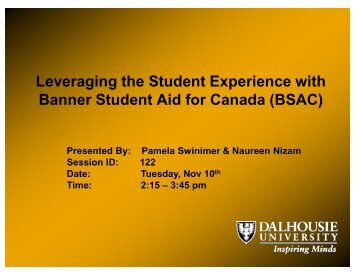 Leveraging the Student Experience with Banner Student ... - AACRAO