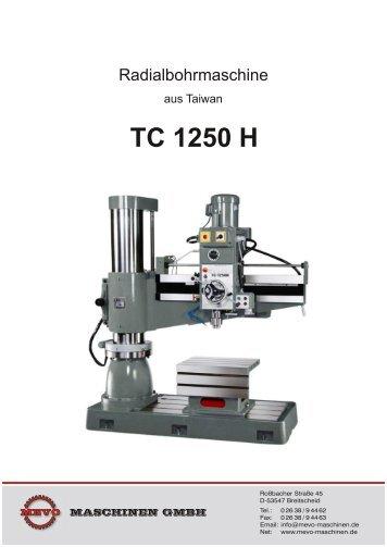 TC 1250 H - MEVO-Maschinen GmbH