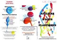 ATELIERS ARTS ARTS PLASTI4UES - Centre Culturel des Carmes