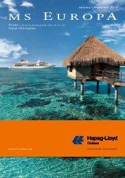 January – November 2013 Travel Information - Vertrieb - Hapag ...