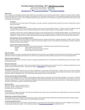 2013-4 Course Catalog - Gilbert Public Schools
