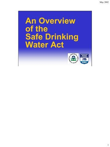 An Overview of the Safe Drinking Water Act