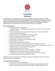 Webmaster Job Description 1_30_2012 - Mind & Life Institute