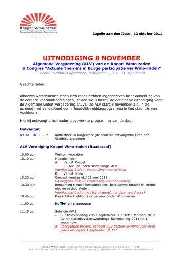 voor de uitnodiging en het complete programma - Koepel Wmo-raden