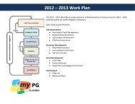 2012 – 2013 Work Plan - City of Prince George