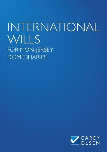 International Wills for Non-Jersey Domiciliaries - Carey Olsen