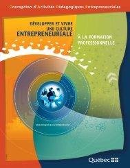Développer et vivre la culture entrepreneuriale - Inforoute FPT