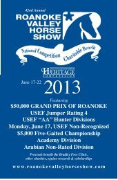 2013 OFFICIAL PRIZE LIST & EVENT SCHEDULE Hunters ...