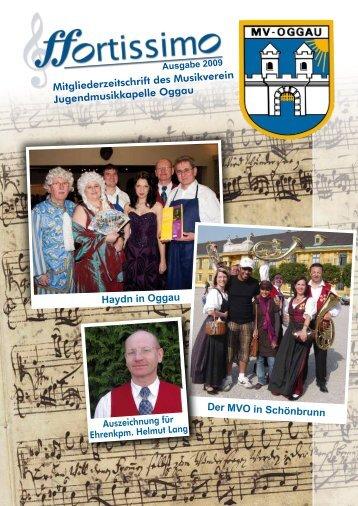 Mitgliederzeitschrift des Musikverein Jugendmusikkapelle Oggau ...