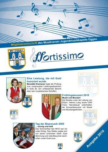 Ausgabe 2010 - Musikverein Oggau