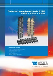Collettori complanari Serie 812M 814M - 815M ... - Watts Industries