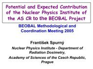 Potential and Expected Contribution of the Nuclear Physics Institute ...