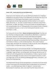 Pressemitteilung 22. August 2012 - Kassel zeigt sich bunt