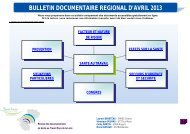 télécharger le bulletin documentaire régional d'Avril 2013