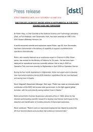 Press Release - Dstl