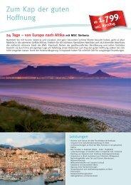 Zum Kap der guten Hoffnung - Die Perfekte Kreuzfahrt