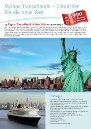 Mythos Transatlantik – Entdecken Sie die neue Welt - Die Perfekte ...