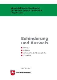 Behinderung und Ausweis - Niedersächsisches Landesamt für ...