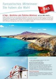 Fantastisches Mittelmeer Sie haben die Wahl - Die Perfekte Kreuzfahrt