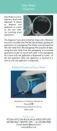 Easy-Shake Dispenser - Denbur, Inc.