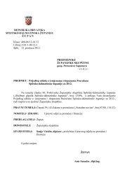 Prijedlog odluke i izmjenama i dopunama Proračuna Splitsko ...