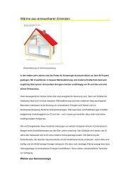 Wärme aus erneuerbaren Energien - DomoVita Haustechnik GmbH