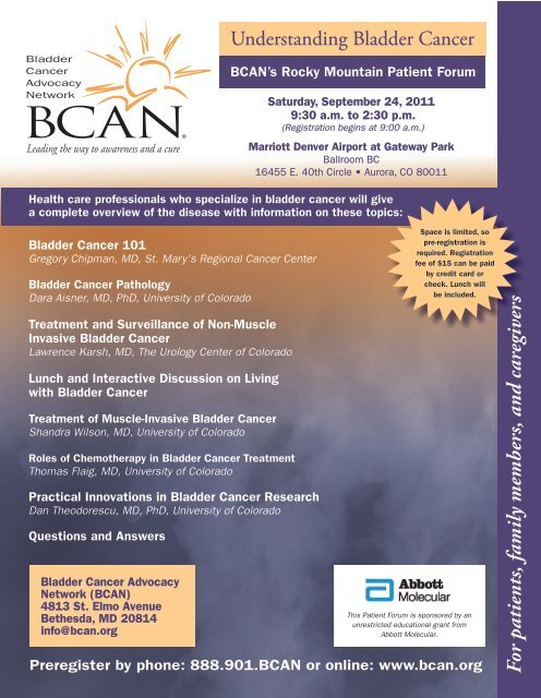For patients, family members, and caregivers - Bladder Cancer ...
