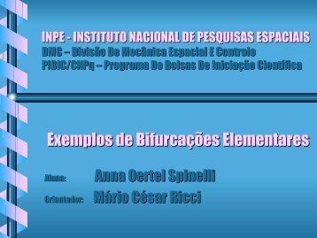 Exemplos de Bifurcações Elementares - Inpe