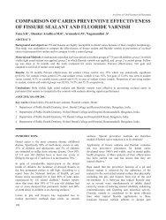 COMPARISON OF CARIES PREVENTIVE ... - Aosr.co.in