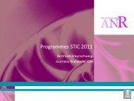 la programmation STIC ANR 2011-2013 - Recherche - Ign
