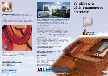 Výrobky pro větší bezpečnost na střeše - Otto Lehmann GmbH