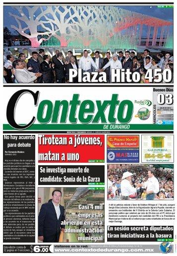03/07/2013 - Contexto de Durango