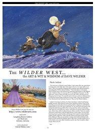 The W I L D E R W e S T... - Canyon Country Zephyr