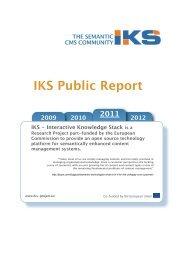 IKS 2011 Annual Public Report