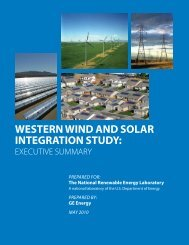 Western Wind and Solar Integration Study: Executive ... - NREL
