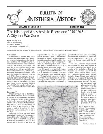 October 2010, Vol 28 - Anesthesia History Association