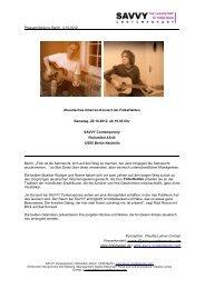 Pressemitteilung, Berlin, 4.10.2012 Akustisches Gitarren-Konzert ...
