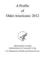 A Profile of Older Americans: 2012 - Administration on Aging