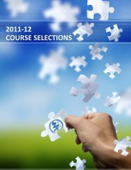 2011-12 COURSE SELECTIONS - Woodland Christian High School