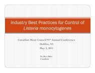 Industry Best Practices for Control of Listeria monocytogenes