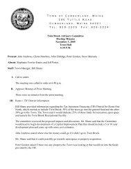 Twin Brook Advisory Committee Meeting Minutes November 3, 2005 ...
